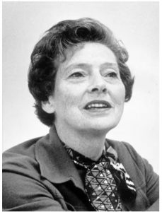 A black and white photo of a middle aged woman with short hair. She is Bobbie Sterne the former major of Cincinnati.