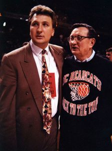 UC coach Bob Huggins pictured with his father Charlie in 1992.